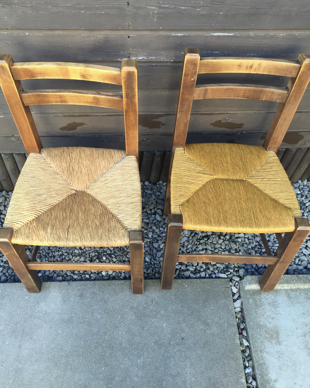 le chti rempailleur rempailles  vos chaises  chaises AVANT APRES de saint laurent blangy