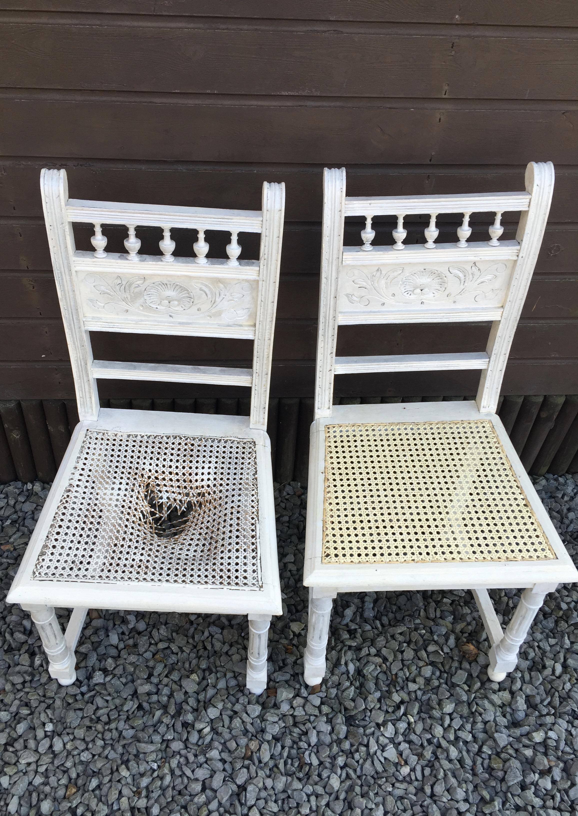 le chti rempailleur fait le cannage de vos chaises anciennes   chaises AVANT APRES de lille